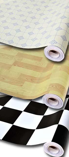 Left-box banner simili trải sàn