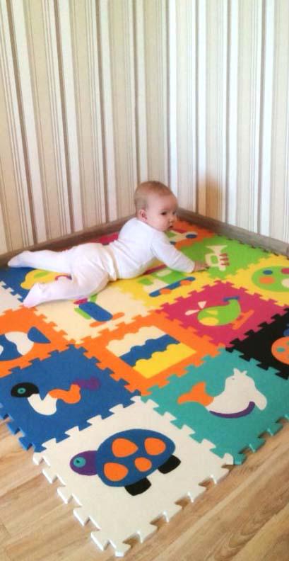 Left-box banner thảm xốp cho bé