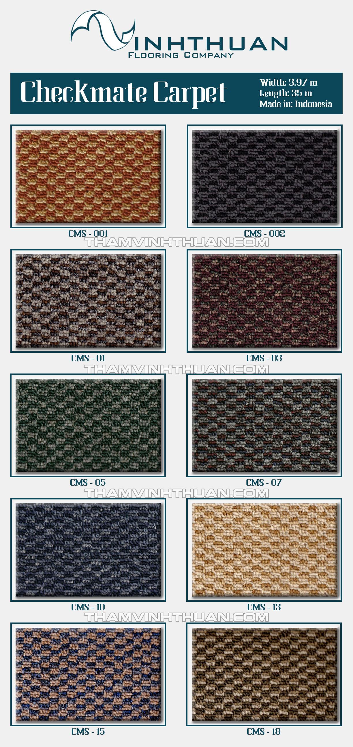 Thảm trải sàn CHECKMATE Sample