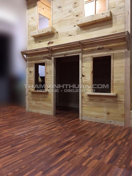 Minh họa thảm xốp vân gỗ 60 x 60 cm