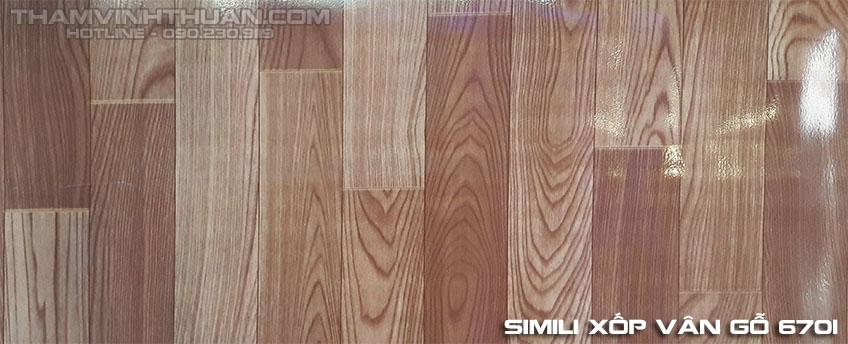 Hình ảnh Simili xốp vân gỗ 6701