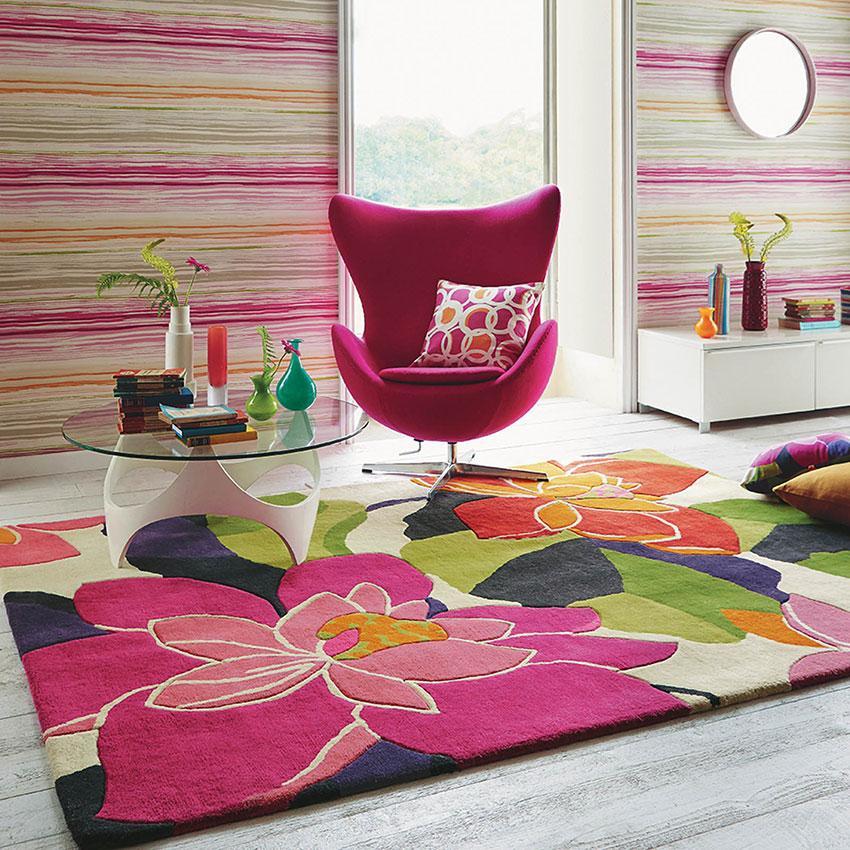Thảm phòng khách hình hoa