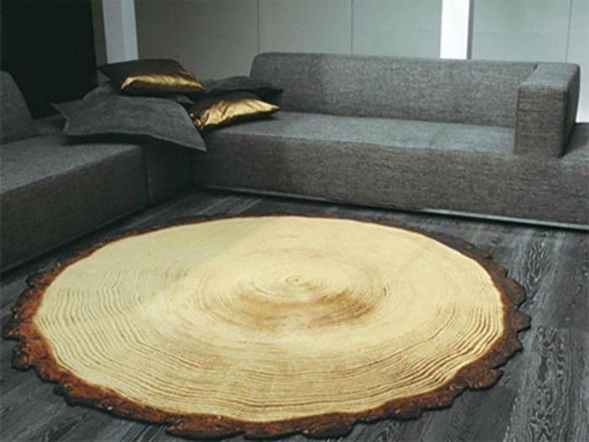 thảm phòng khách hình thân cây