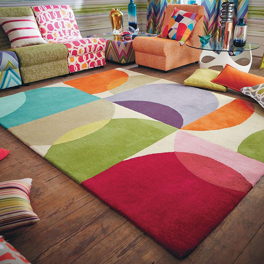 Thảm Sofa nhiều màu sắc